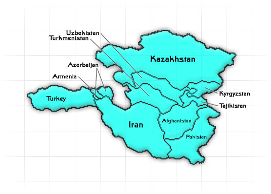 Central Asia Region Map