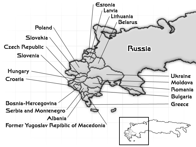East Europe & Eurasia Region Map