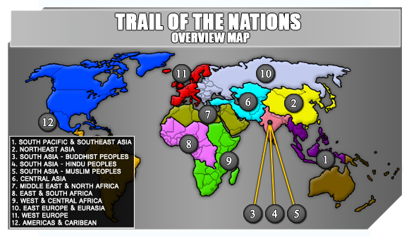 Trail of the Nations - Overview Map